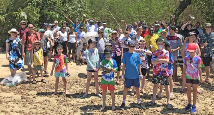 Resorts' Guests Join In On Island Clean-Up Project