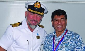 Majestic Princess Cruises Into Suva on Time