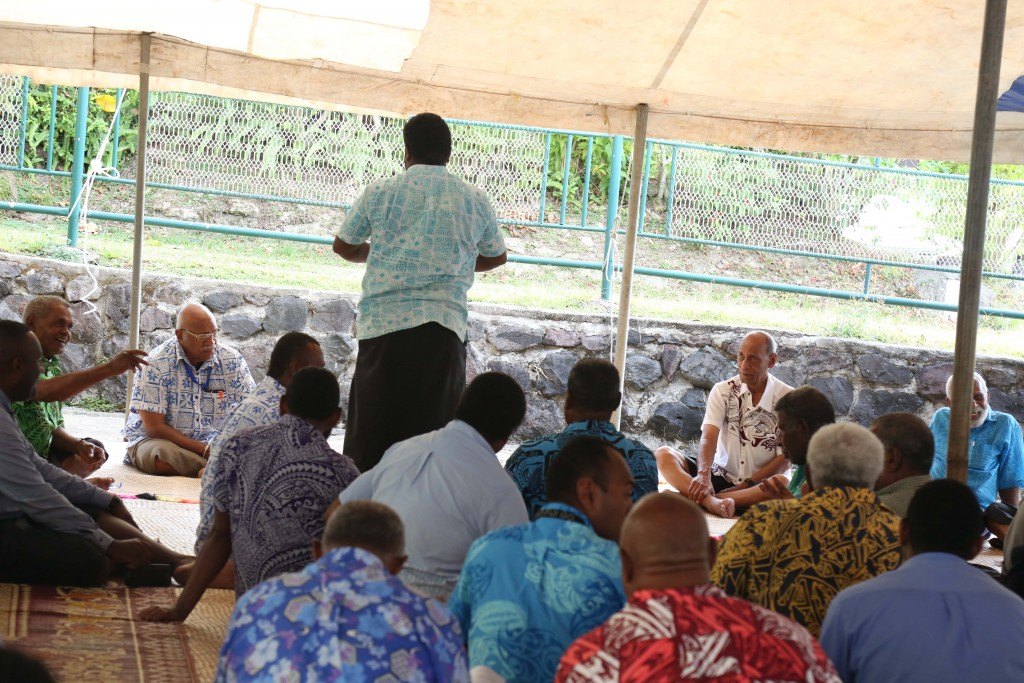 Social Democratic Liberal Party (SODELPA) leader Sitiveni Rabuka with members and supporters during the the party's Special General Assembly, at Nawanawa Road, Nadera, on September 1, 2018. Photo: Wati Talebula