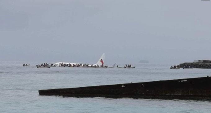 Air Niugini Plane In Lagoon Near Chuuk Airport, Federated States Of Micronesia