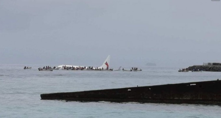 Air Niugini Plane In Lagoon Near Chuuk Airport, Federated States Of Micronesia