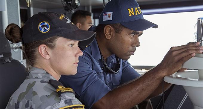 Australian, Fijian Patrol Boats Conduct Joint Boarding Operations