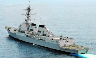 United States Naval Vessel  To Visit Port  Of Suva