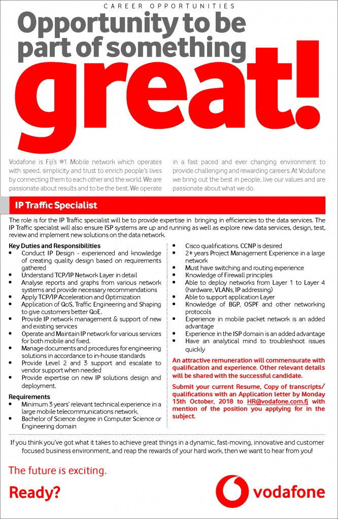 3x20 IP Traffic Specialist vacancy ad_High res (2)