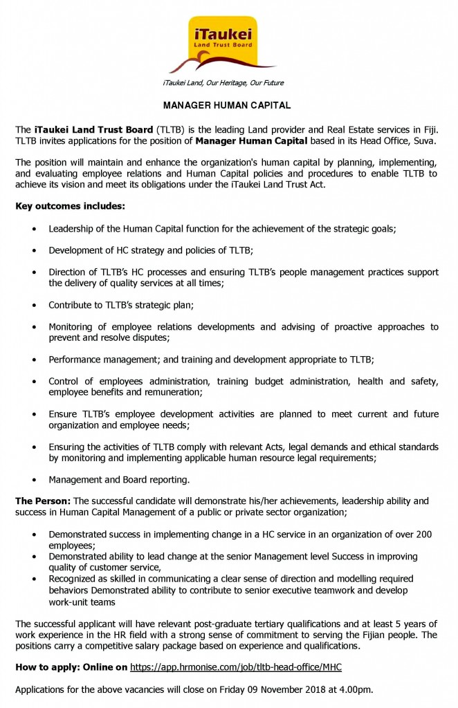 TLTB Manager Human Capital