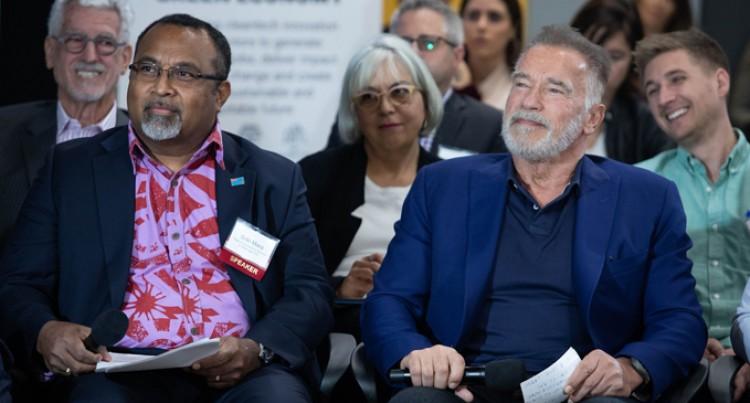 Schwarzenegger Embraces Talanoa Concept, Praises PM