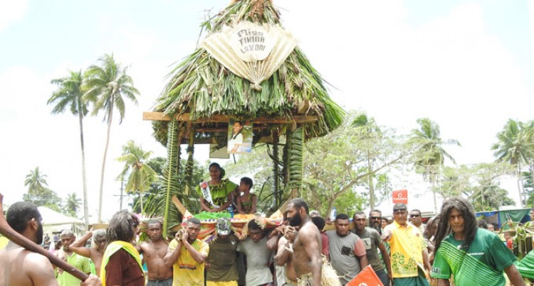 Colourful Float Procession Brings Old Capital To A Halt