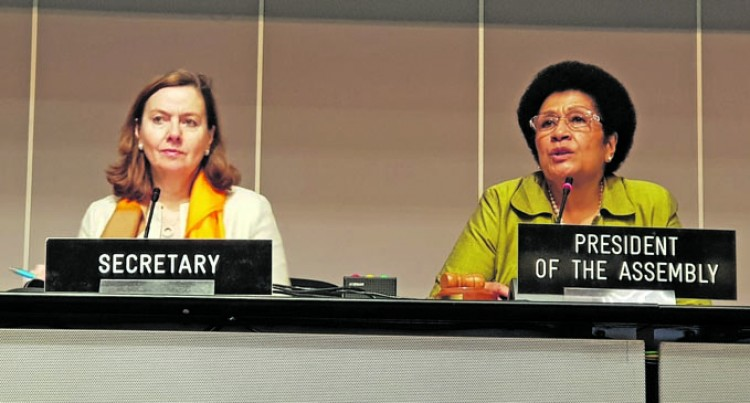 Speaker Chairs IPU Session In Geneva