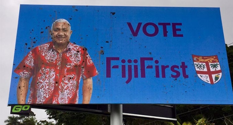 Uproar Over Attacks on Two FijiFirst Billboards. General Secretary Calls Them 'thuggery'