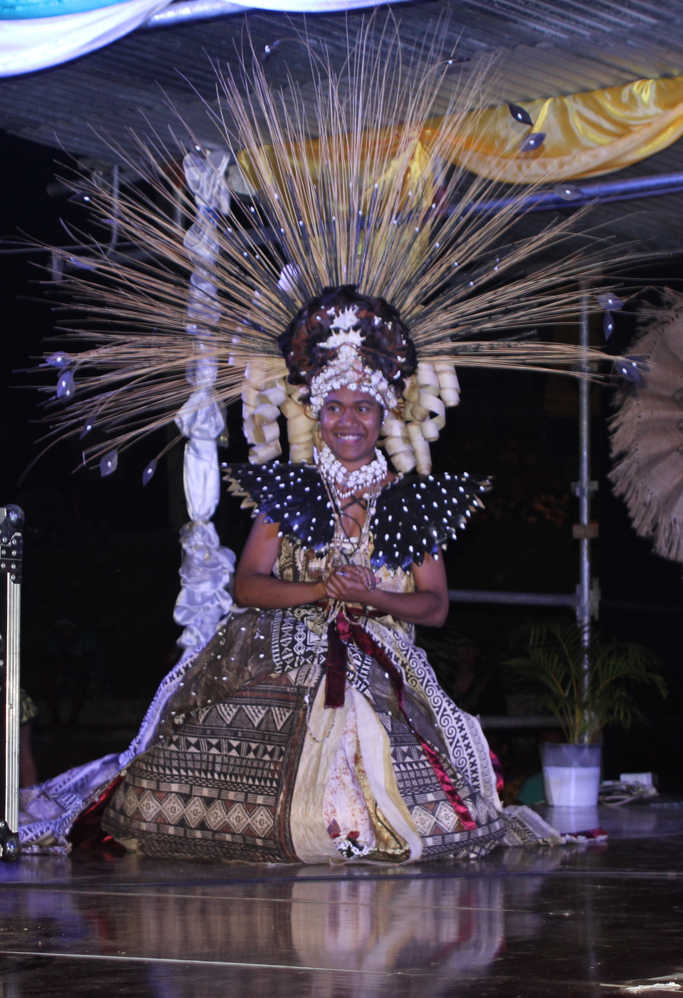 Miss Levuka Town Council, Leba Ledua Laveti, won Miss Charity and the Best Traditional Inspired Attire on October 13, 2018. Photo: Manhar Vithal