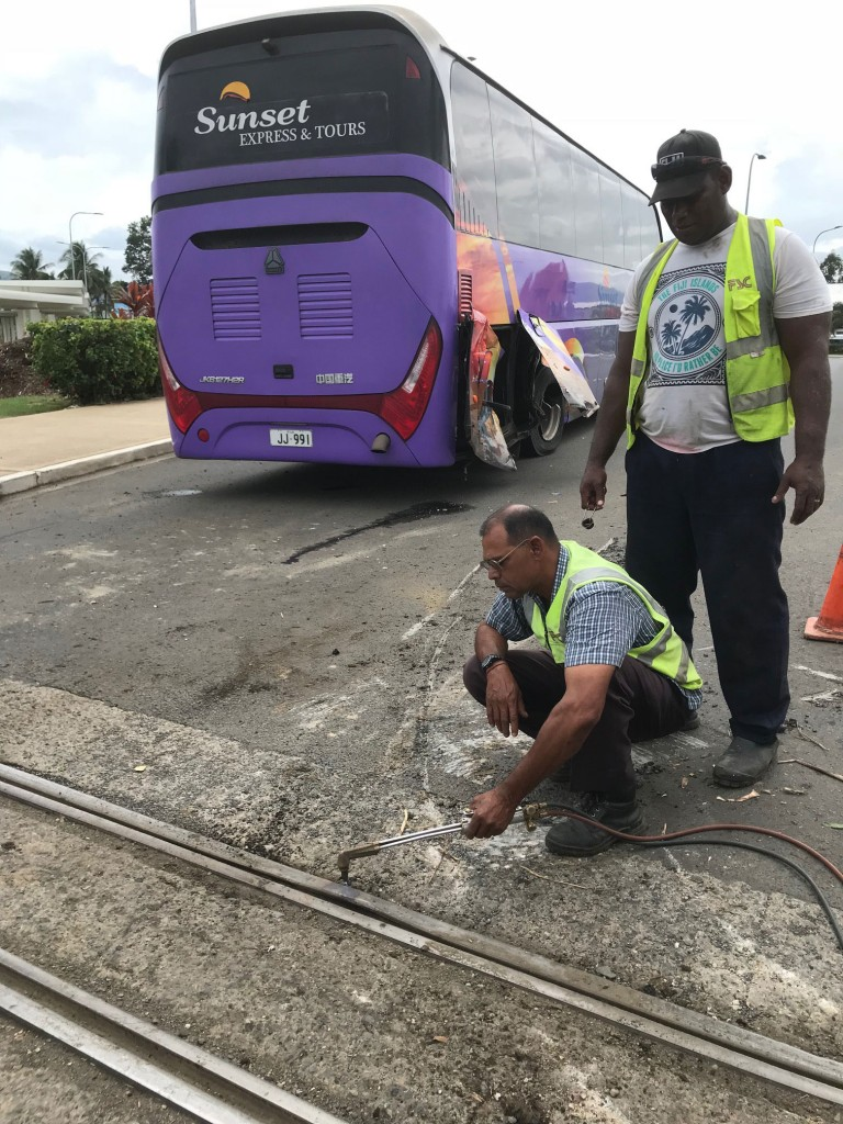 According to Police, the bus was travelling out of the airport while the train was on its way towards Lautoka.