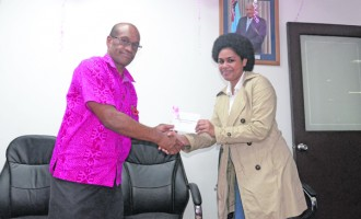 Ministry Donates To Pinktober Cause