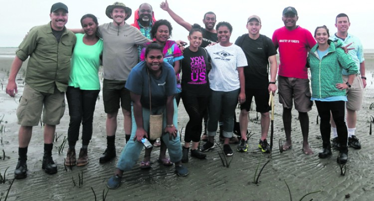 Mangrove Planting Experience Thrills USA Navy Officer
