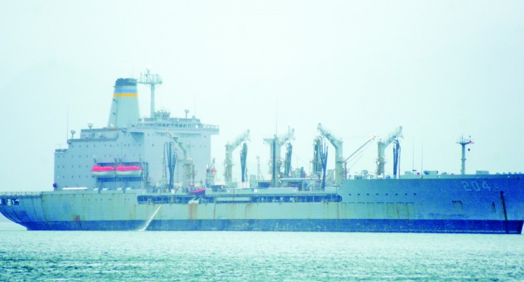 US Navy Oiler Frequents Ports, on Suva Stopover