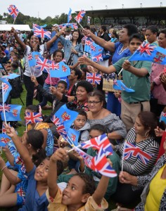 Thousands gathered at Albert Park in Suva to welcome The Duke and The Duchess of Sussex Prince Harry and Megahan Markle on October 23, 2018. Photo: Ronald Kumar.