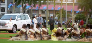 The Duke and Duchess of Sussex, Prince Harry and Meghan Markle, arrived at Albert Park in suva during the traditional ceremonies of welcome on October 23, 2018. Photo: Ronald Kumar.