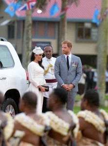 The Duke and The Duchess of Sussex Prince Harry and Megahan Markle arrived at Albert Park for their traditional welcome ceremony on October 23, 2018. Photo: Ronald Kumar.