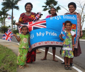 People of Nausori anticipating the arrival of the Duke and Duchess of Sussex, Prince Harry and Meghan at the Nausori Airport on October 23,2018.Photo:Simione Haravanua.