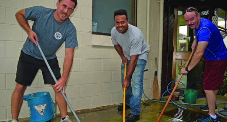 USS Shoup Members Conduct Community Services, Teach Basketball