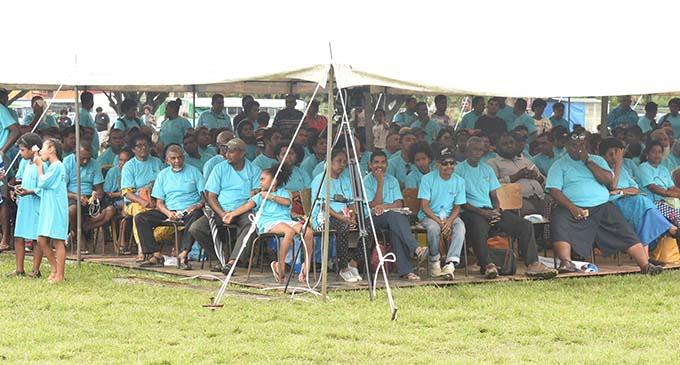 The FijiFirst supporters during the rally at Koroivolu Park in Nadi on October 20, 2018. Photo: Waisea Nasokia