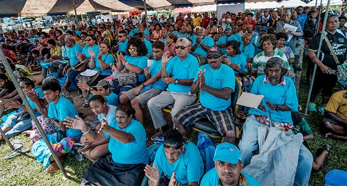 FijiFirst Party supporters during the party Family Fun Day at Syria Park in Nausori on October 6, 2018. Photo: N Studios Photography Fiji