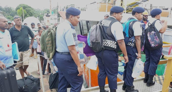 Government Vessels Assist FEO In Transporting Election Officials