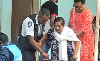 Despite Disability Raji, 88, Goes To Vote