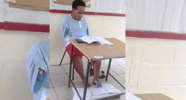 Francis Rupeni Writes With Left Foot, Completes Exam