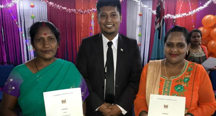 Two Women Sign Up, See Future In Farming