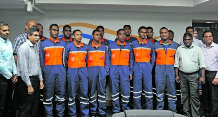 Energy Fiji Limited Signs Up 34 for NPTC Apprenticeship Scheme