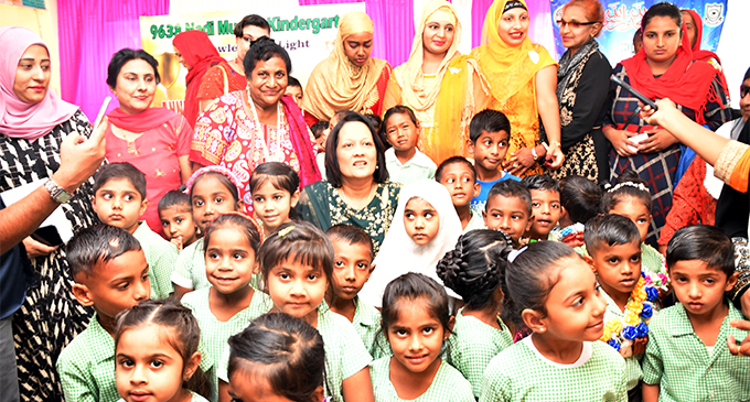 Minister for Health and Medical Services Rosy Akbar officiated at the Nadi Muslim School Kindergarten graduation on November 6, 2018  Photo: Waisea Nasokia