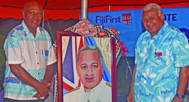Reverend Shows Appreciation To PM Bainimarama In Painting