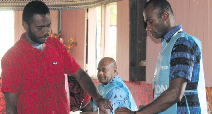 Fiji Votes: Gonekalou First To Cast Vote At Pre-Poll
