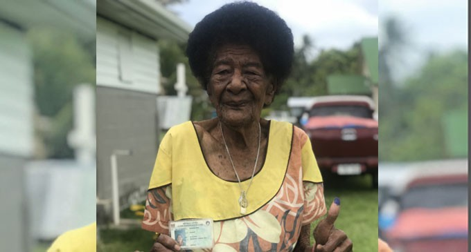 Fiji Votes: 99-Year-Old Excited To Cast Ballot
