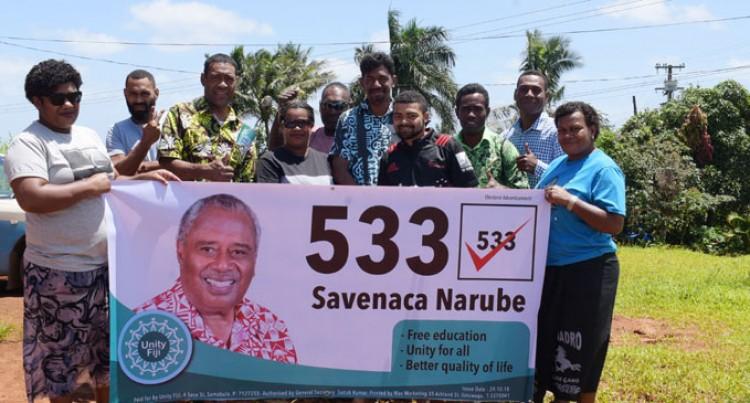 Narube Upbeat Despite Low Turnout At Rally