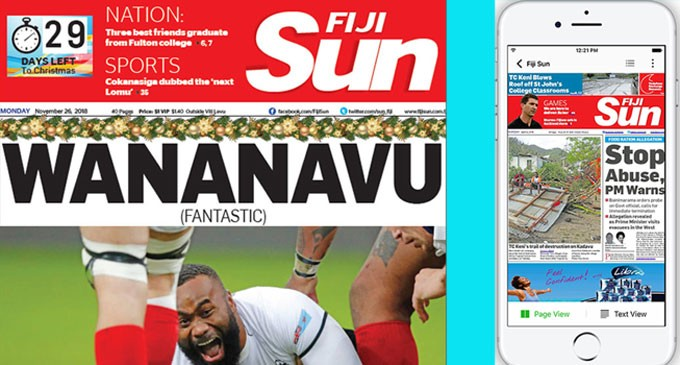 Subscribe To The Fiji Sun Print Edition or E-Paper