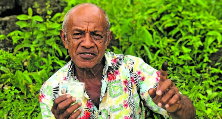 Fiji Votes: Uluilakeba Walks 4Km To Cast His Vote
