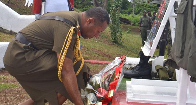 Republic of Fiji Military Forces Chief of Staff, Brigadier General Ro Jone Kalouniwai at the Sukanaivalu Barracks in Labasa. Photo: Nacanieli Tuilevuka.