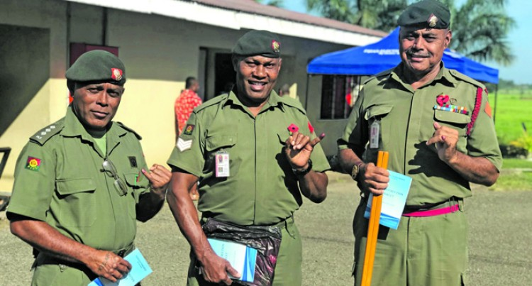 Fiji Votes: RFMF Personnel Remind Their Families Importance of Voting