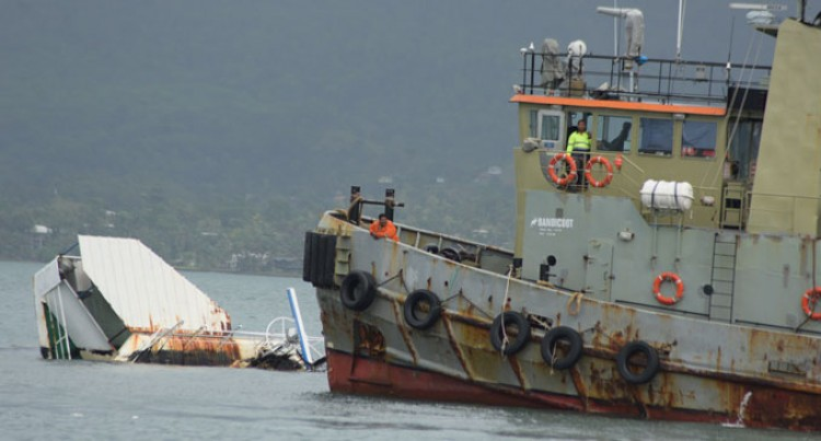 Salvage Begins For Sunken Vessel At Suva Harbour