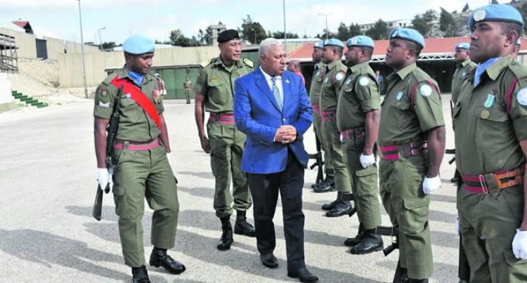 PM Pays Tribute To Fallen Fijian Soldiers In Lebanon