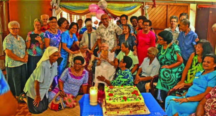 President Konrote Celebrates 100th Birthday For Sister Loyola Grehan