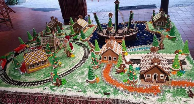 Gingerbread Village For Christmas At Castaway