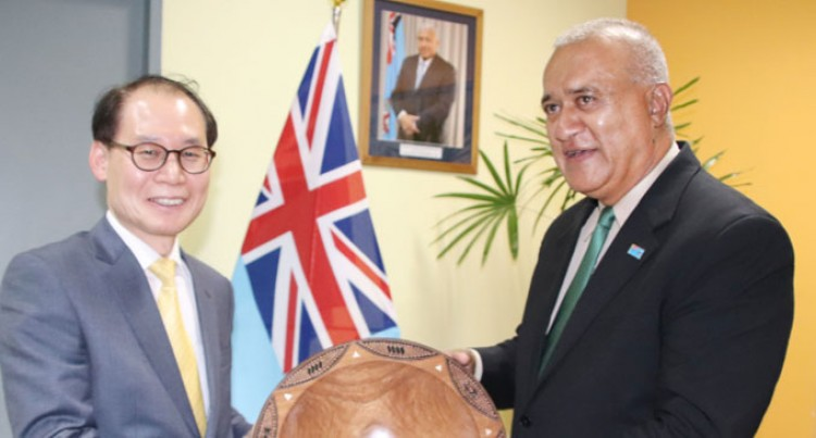 DIPLOMATIC SUN: Korean Director General Meets PS Foreign Affairs Naivalurua