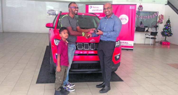 Abhishek Wins Brand New Jeep