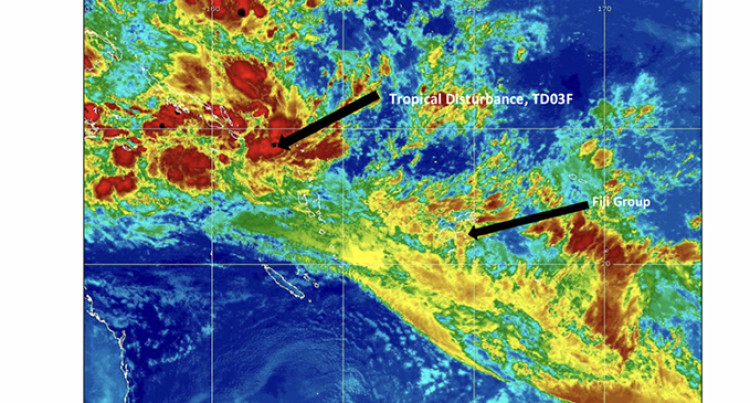 Tropical Disturbance TD03F is Expected To Intensify In The Next 24 Hours