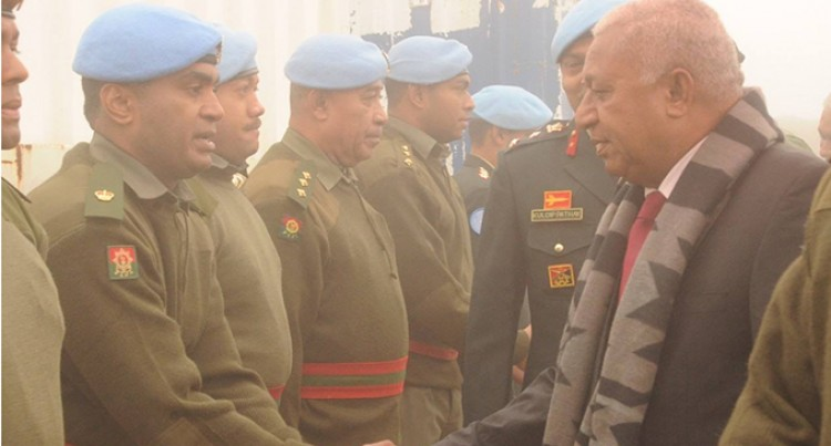 PM Bainimarama Praises Golan Fijian Troops In Middle East Tour
