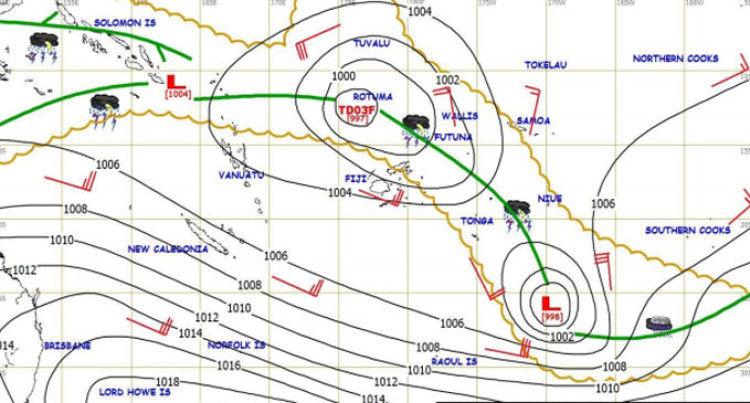 TD03F: Expected To Intensify Into Category 1 Cyclone In 12 To 18 Hours