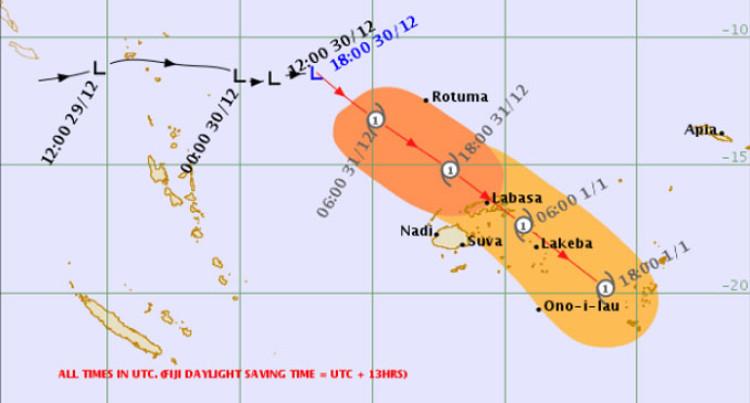 Gale Warning For Rotuma, Yasawa, Northen Viti Levu, Vanua Levu