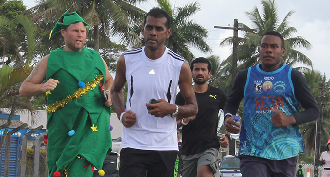 Participants taking part in the 5 kilometre dash in Suva on December 15, 2018. Photo: Simione Haravanua